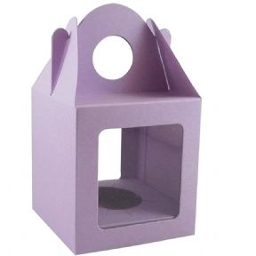 10 x Lilac Single Cupcake / Muffin / Fairy Cake Boxes With 2 Windows